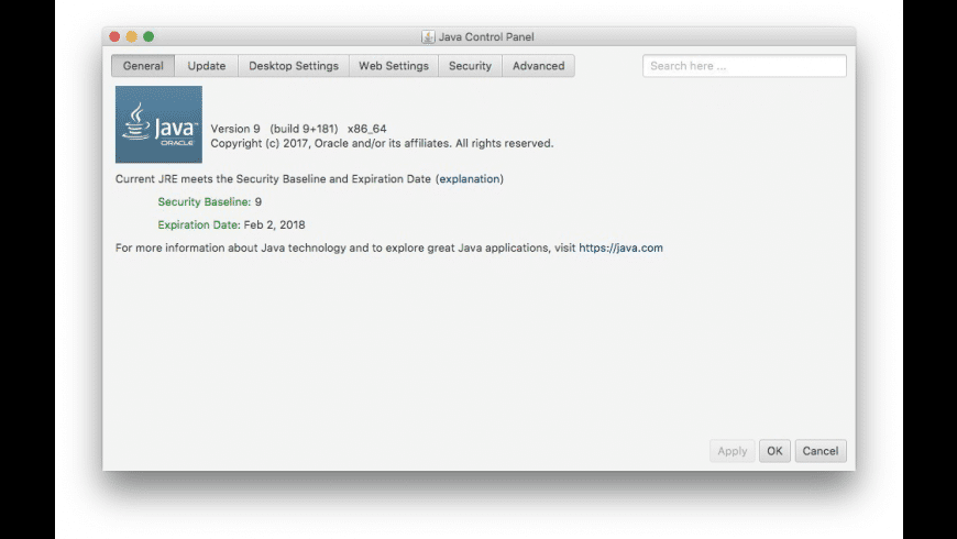 Java SE Runtime Environment 9 for Mac - review, screenshots