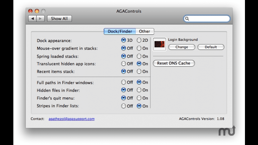 AGAControls for Mac - review, screenshots