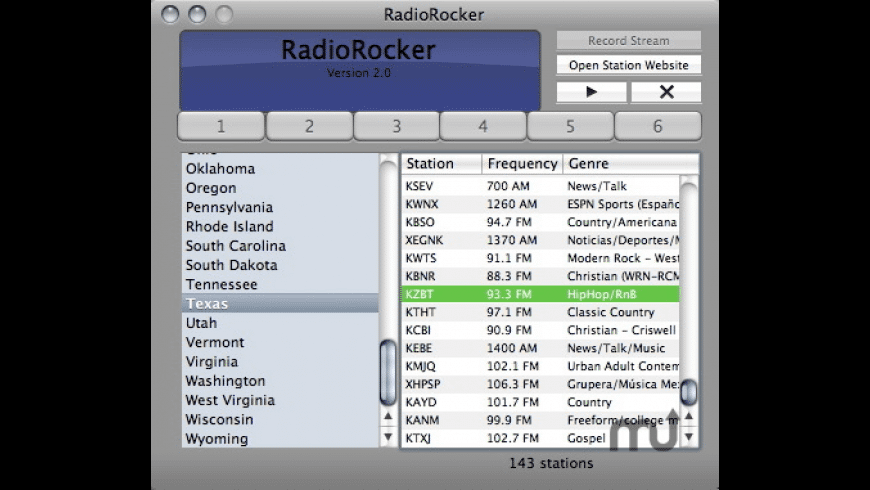 RadioRocker for Mac - review, screenshots