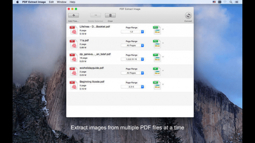 PDF Extract Image for Mac - review, screenshots