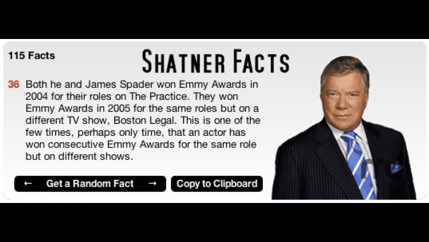 Shatner Facts for Mac - review, screenshots