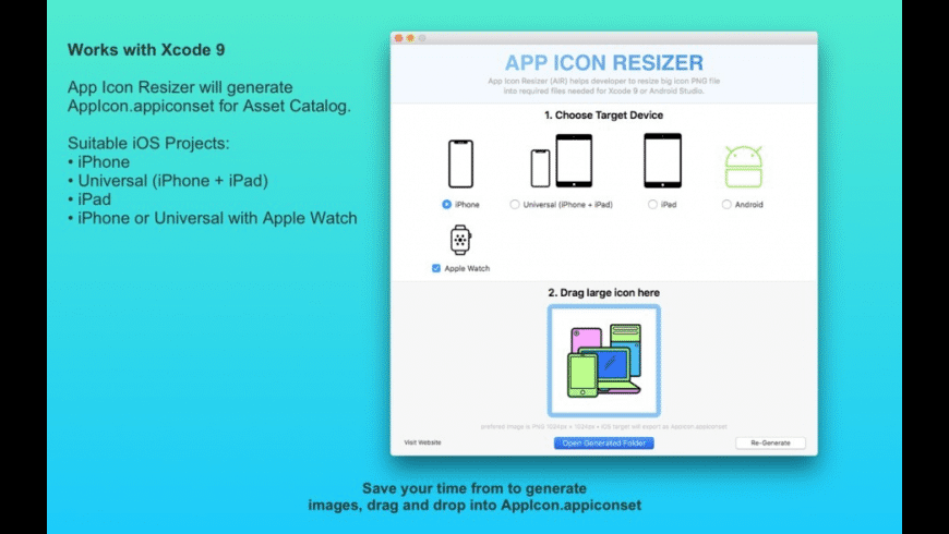 App Icon Resizer for Mac - review, screenshots