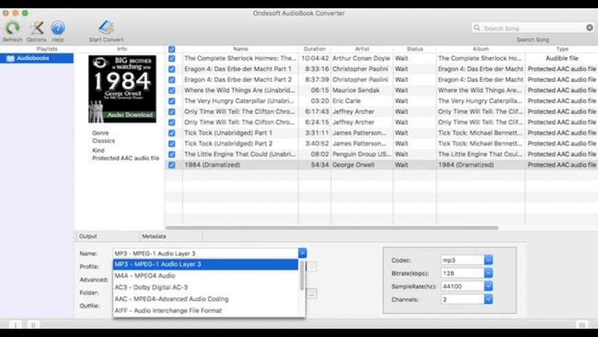 Ondesoft AudioBook Converter for Mac - review, screenshots