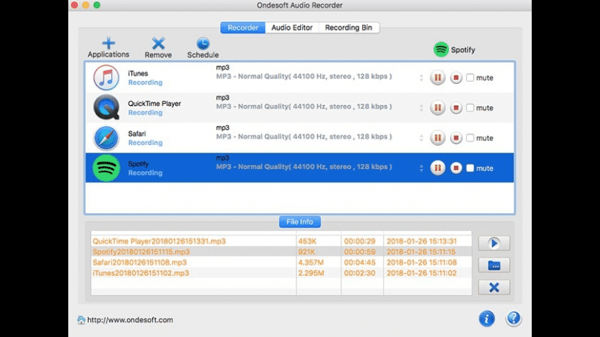 Ondesoft Audio Recorder for Mac - review, screenshots