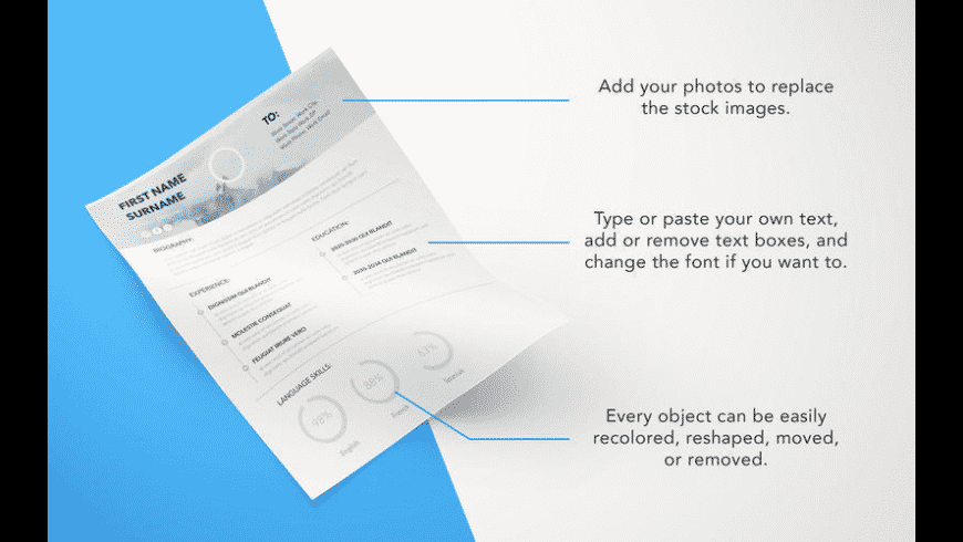 Resume Templates for Mac - review, screenshots