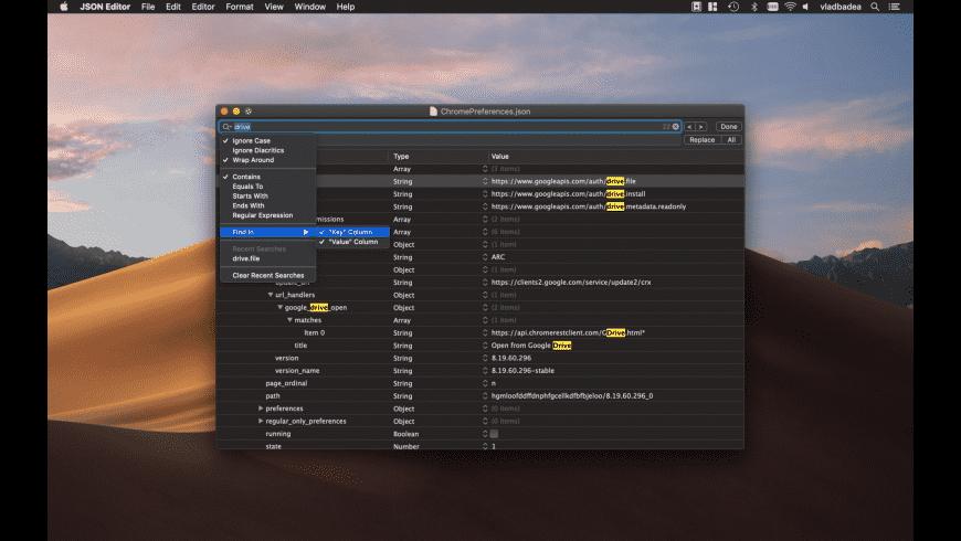 JSON Editor for Mac - review, screenshots