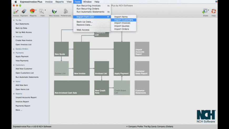 Express Invoice for Mac - review, screenshots