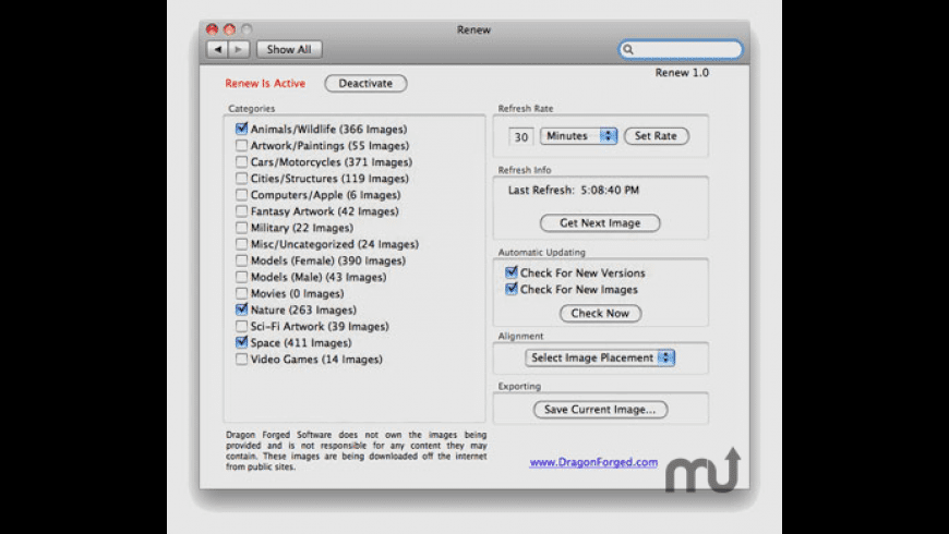 Renew for Mac - review, screenshots