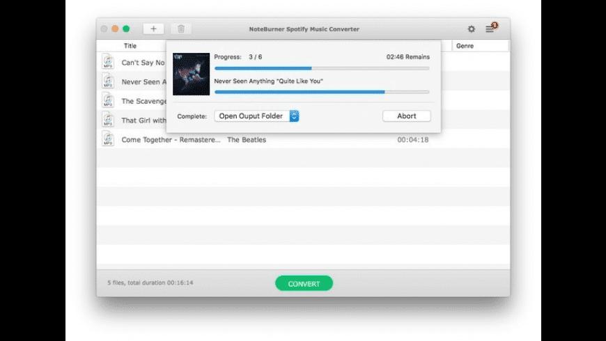 NoteBurner Spotify Music Converter for Mac - review, screenshots