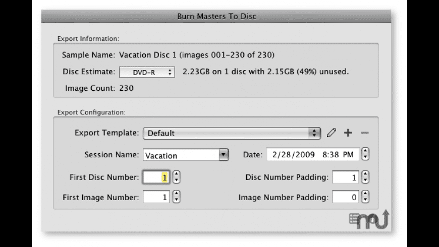BurnToDisc for Aperture for Mac - review, screenshots