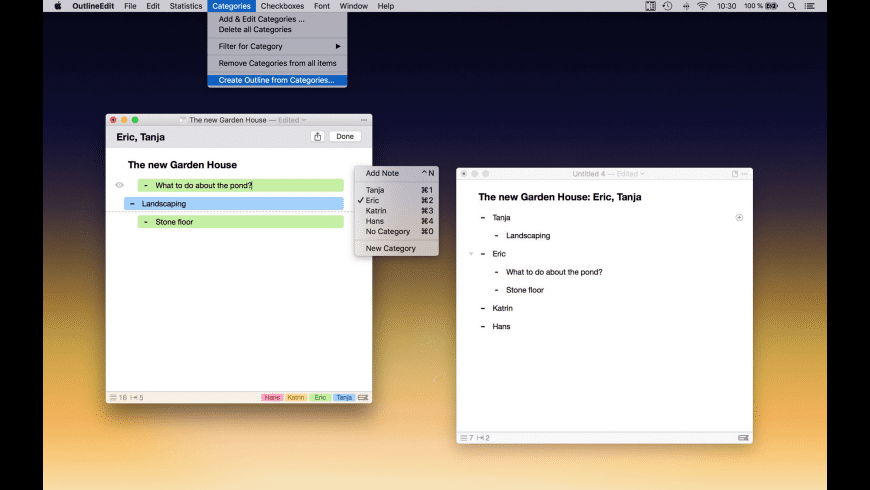 OutlineEdit for Mac - review, screenshots
