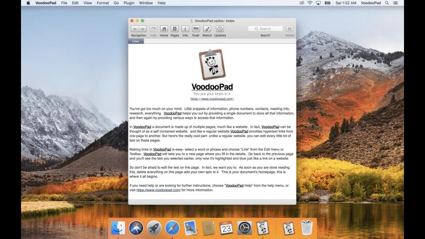 VoodooPad for Mac - review, screenshots