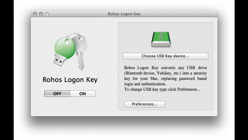 Rohos Logon Key for Mac - review, screenshots