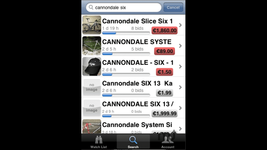 GarageBuy for iPhone for Mac - review, screenshots