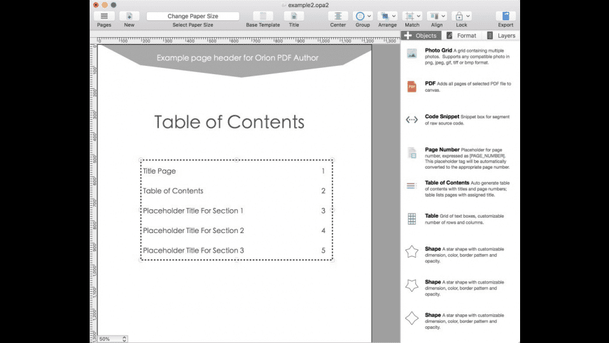 Orion PDF Author 2 for Mac - review, screenshots