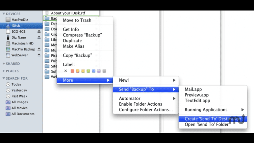 Send To CMI for Mac - review, screenshots