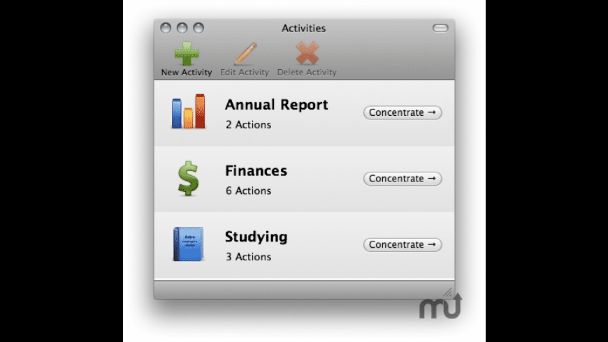Concentrate for Mac - review, screenshots