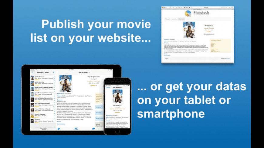 Filmotech for Mac - review, screenshots