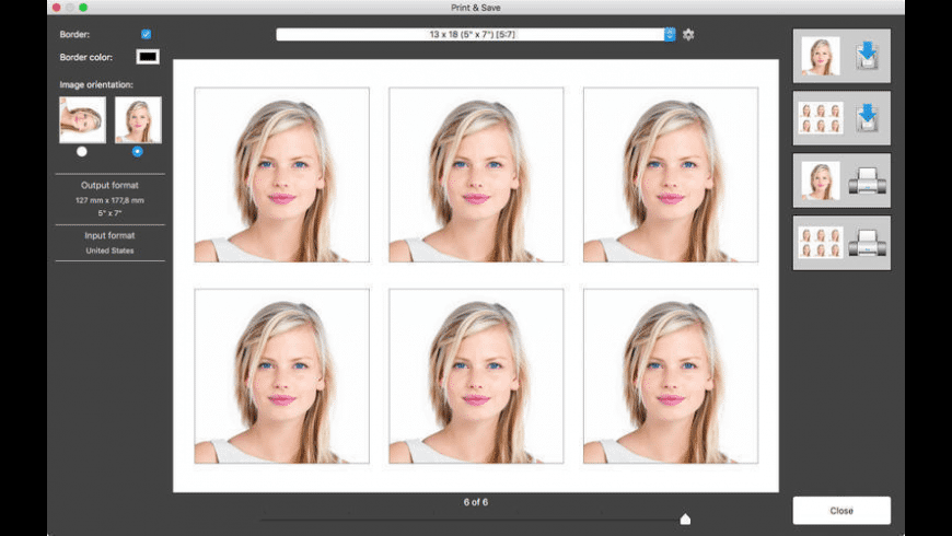 Passport Photo for Mac - review, screenshots