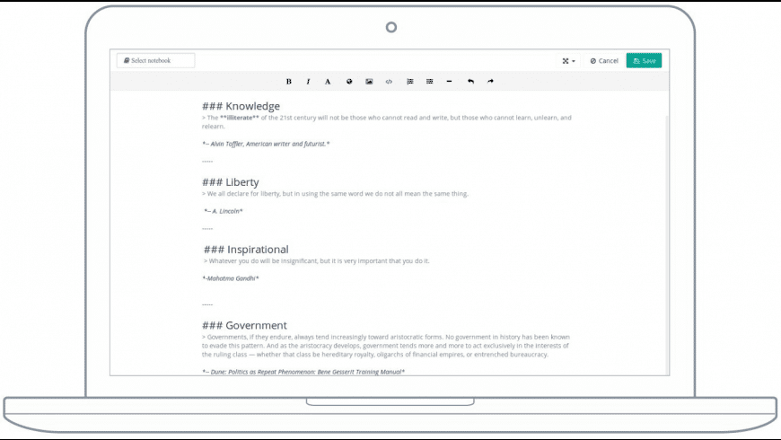 Laverna for Mac - review, screenshots
