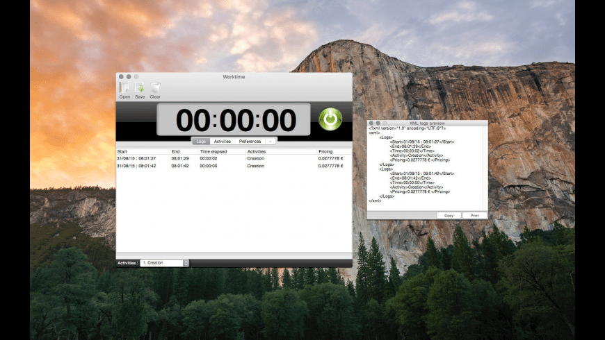 Worktime for Mac - review, screenshots