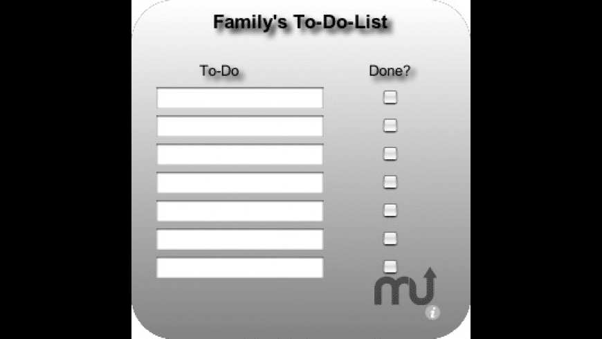 Family's To-Do-List for Mac - review, screenshots