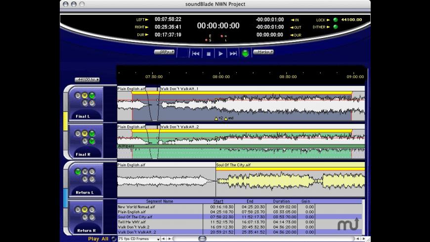 soundBlade HD for Mac - review, screenshots