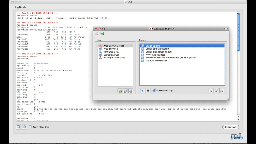 CommandCenter for Mac - review, screenshots