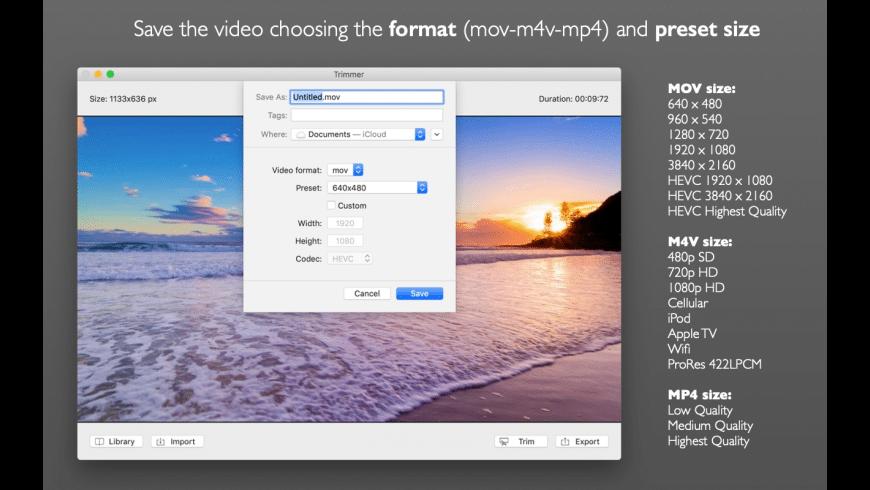 Trimmer for Mac - review, screenshots