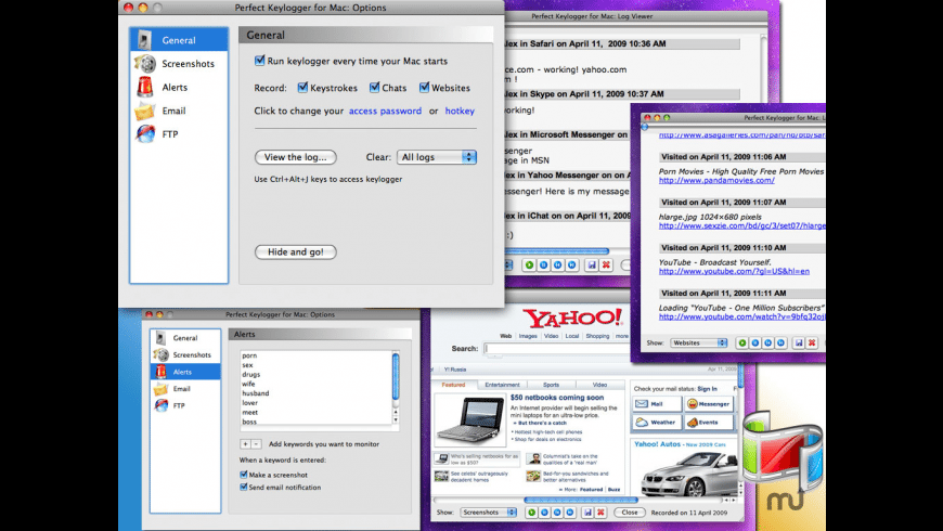 Perfect Keylogger for Mac - review, screenshots