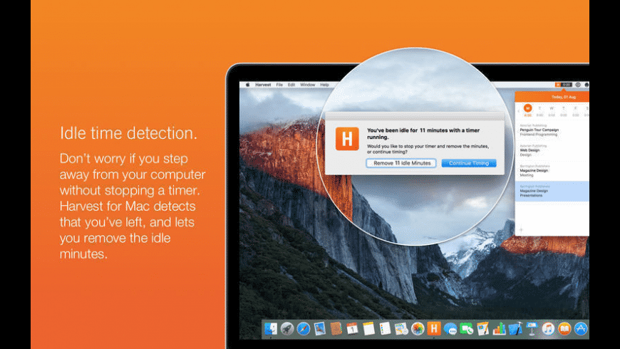 Harvest for Mac - review, screenshots
