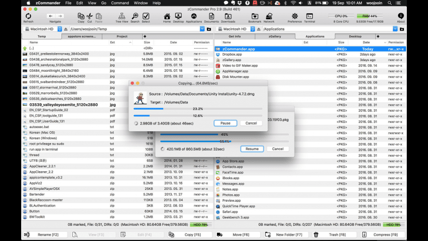 zCommander for Mac - review, screenshots