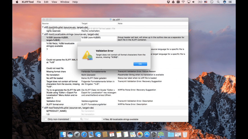 XLIFFTool for Mac - review, screenshots