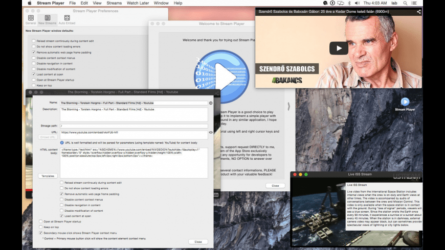 Stream Player for Mac - review, screenshots