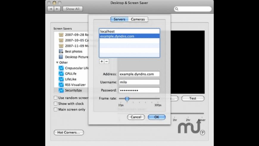 SecuritySpy Screensaver for Mac - review, screenshots