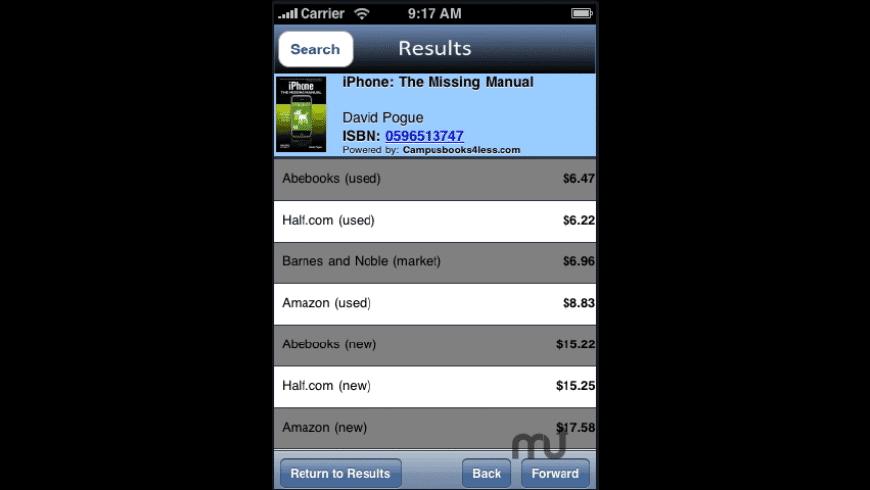 BookSearch for Mac - review, screenshots