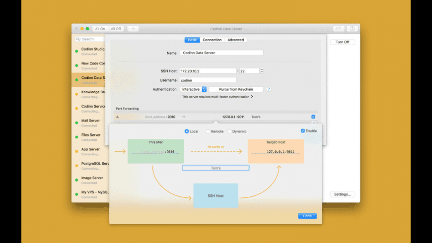 SSH Tunnel for Mac - review, screenshots