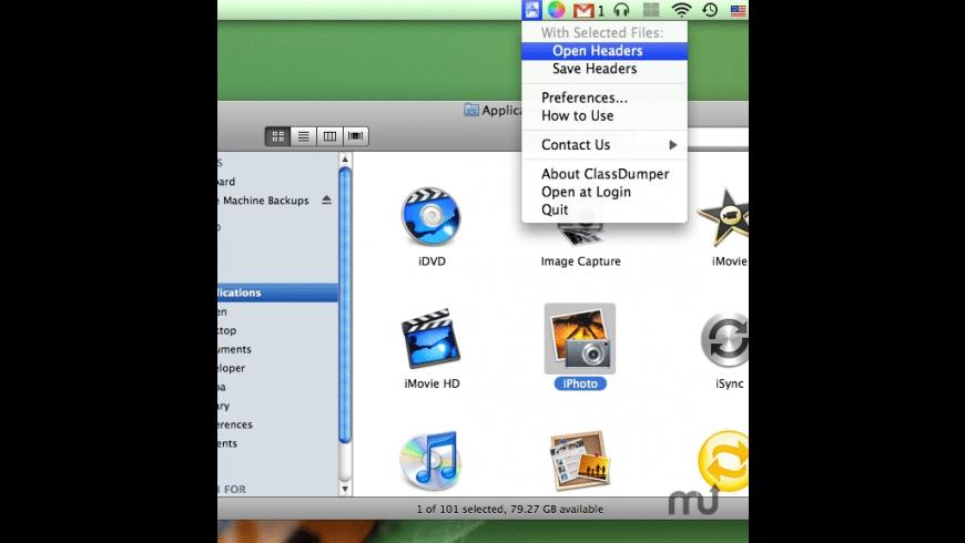 ClassDumper for Mac - review, screenshots