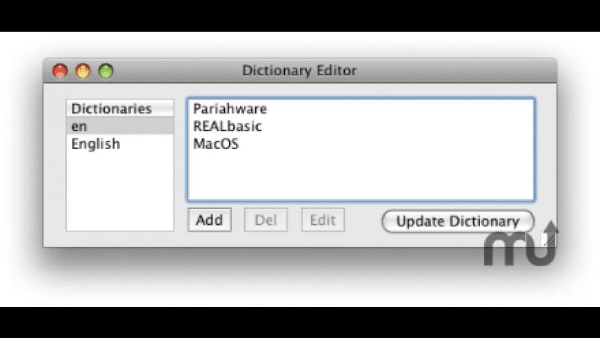 Dictionary Editor for Mac - review, screenshots