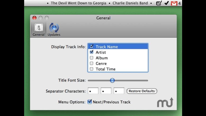 TunesBar for Mac - review, screenshots