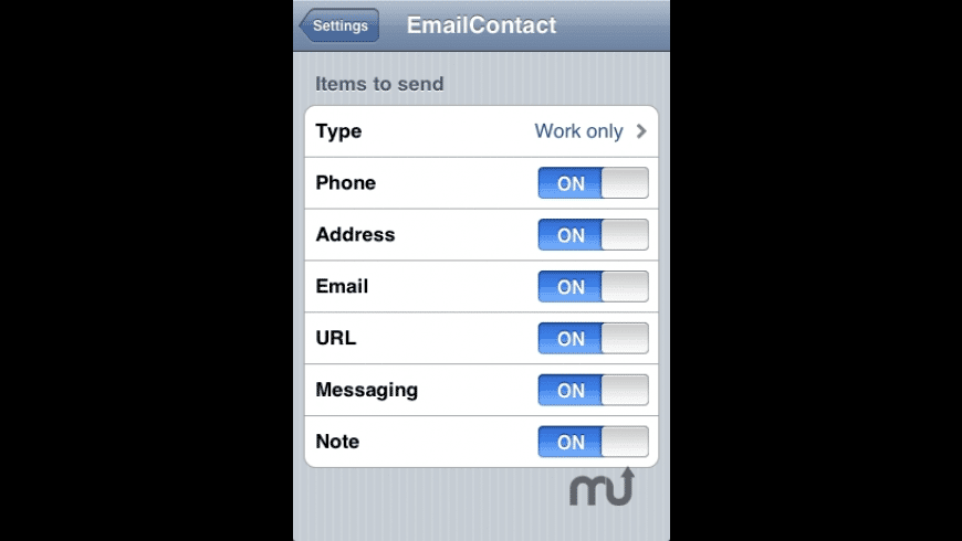 EmailContact for Mac - review, screenshots