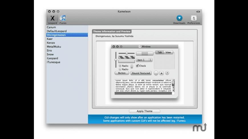Kameleon for Mac - review, screenshots