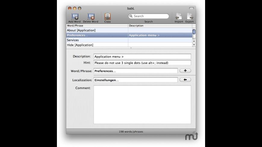 babL for Mac - review, screenshots