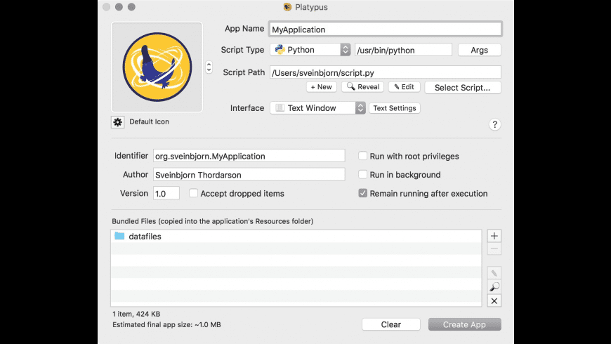 Platypus for Mac - review, screenshots