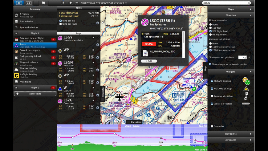 Air Navigation for Mac - review, screenshots