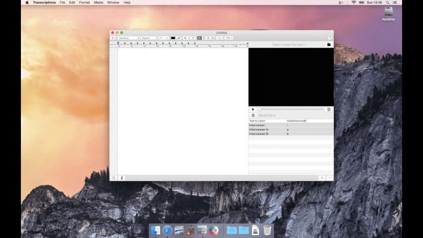 Transcriptions for Mac - review, screenshots