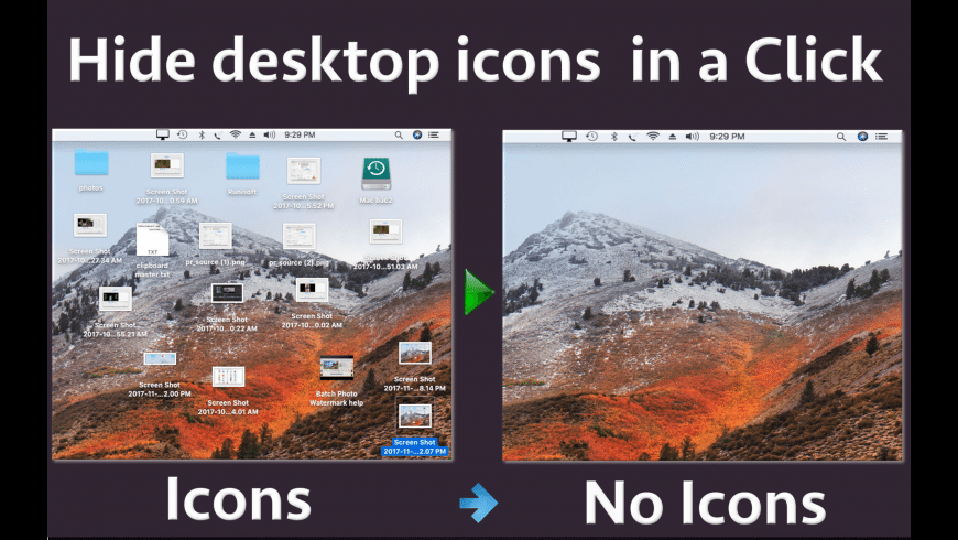 Desktop Icons Hider for Mac - review, screenshots