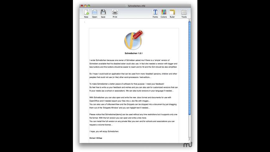 Schreibchen for Mac - review, screenshots