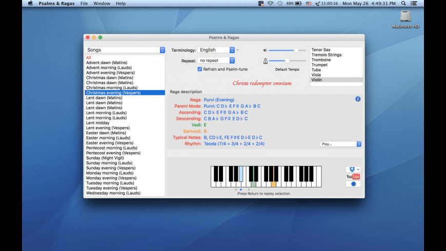 Psalms and Ragas for Mac - review, screenshots