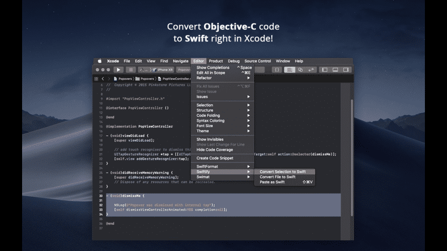 Swiftify for Xcode for Mac - review, screenshots
